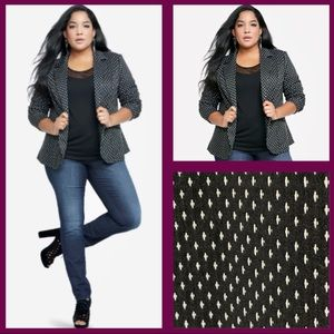 Lane Bryant size 22 mini crosses blazer jacket NWT